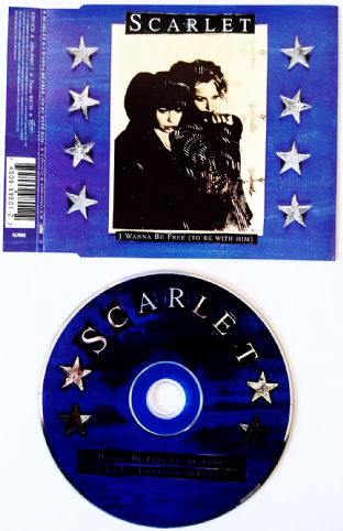 Scarlet ‎- I Wanna Be Free (To Be With Him) (CD Single) (VG+/VG+)